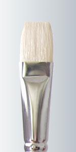 Series 215 - White Bristle Long Handle Flat
