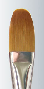 Derek Wicks Brush - Series 429 Size #10 Golden Taklon Filbert