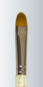 Series 435 - Golden Taklon Moon Filbert Champagne Handle