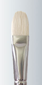 Series 225 - White Bristle Long Handle Filbert