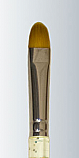 Series 435 - Golden Taklon Moon Filbert Champagne Handle